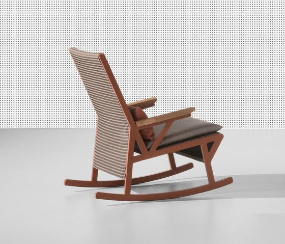 Vieques rocking chair teak armrests by KETTAL by KETTAL