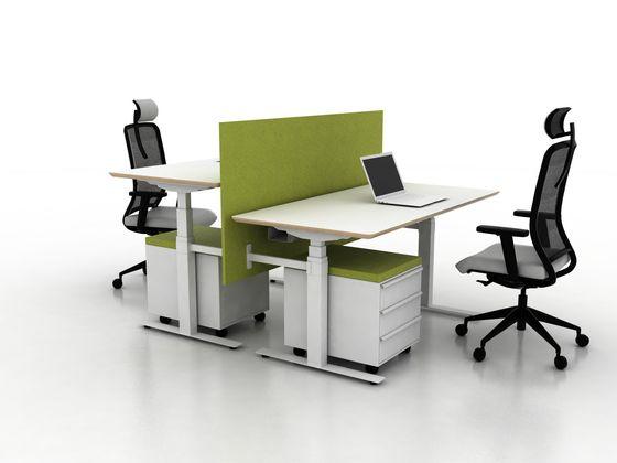 X-Ray Two-seat office desk by Ergolain by Ergolain