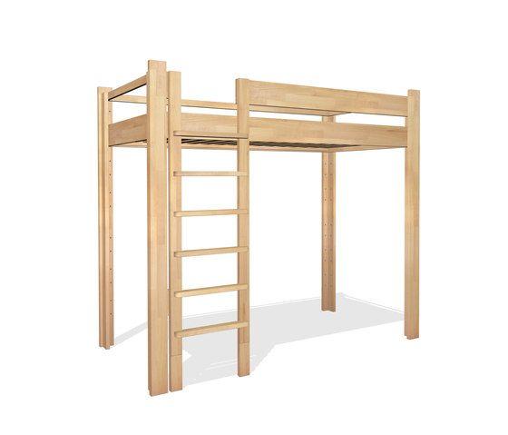 Youth Loft Bed DBB-100D by De Breuyn by De Breuyn