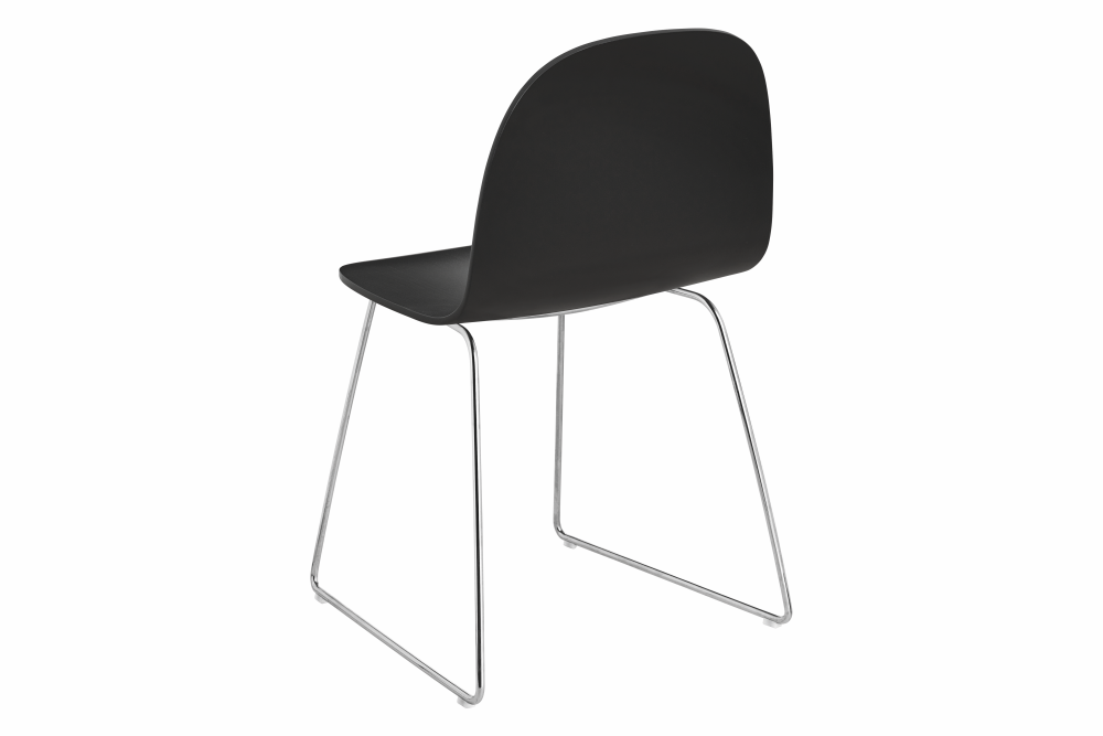 2D Sledge-Base Dining Chair - Unupholstered by Gubi