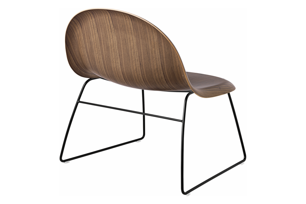 3D Un-Upholstered Sledge Base Lounge Chair by Gubi
