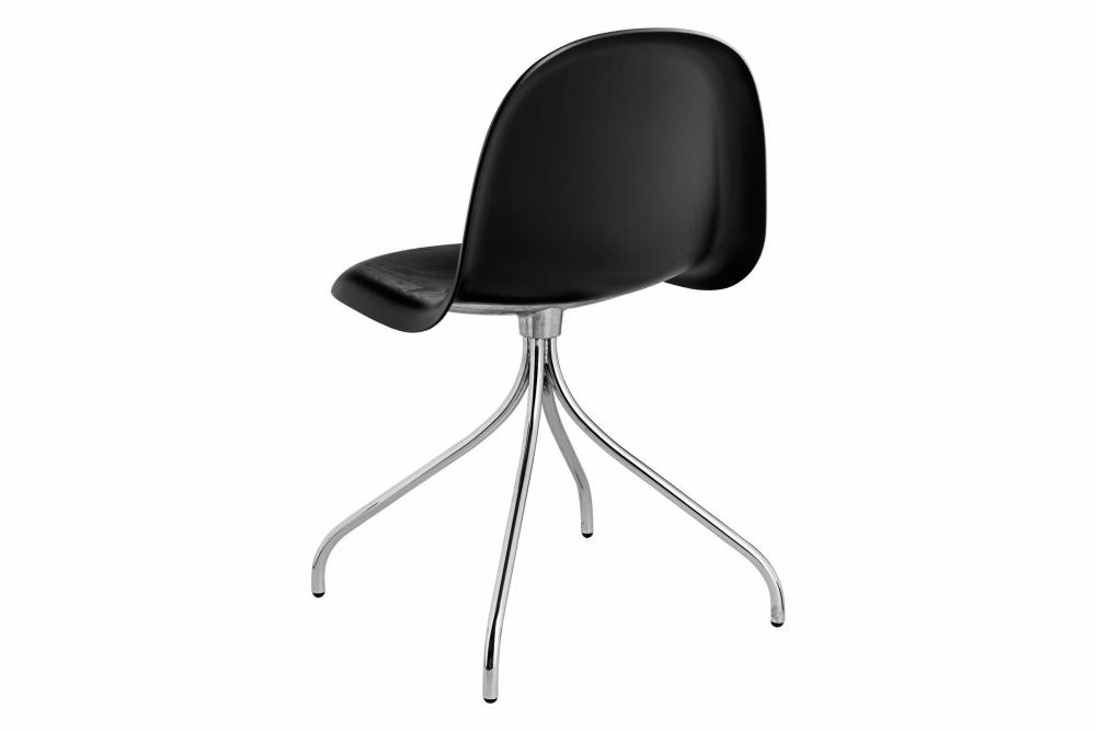 Gubi 3D Swivel Base Dining Chair - Unupholstered by Gubi