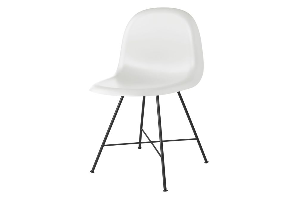 3D Dining Chair - Un-Upholstered, Center Base by Gubi
