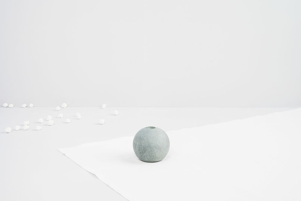 Ball of Stone Candleholder by Tiipoi