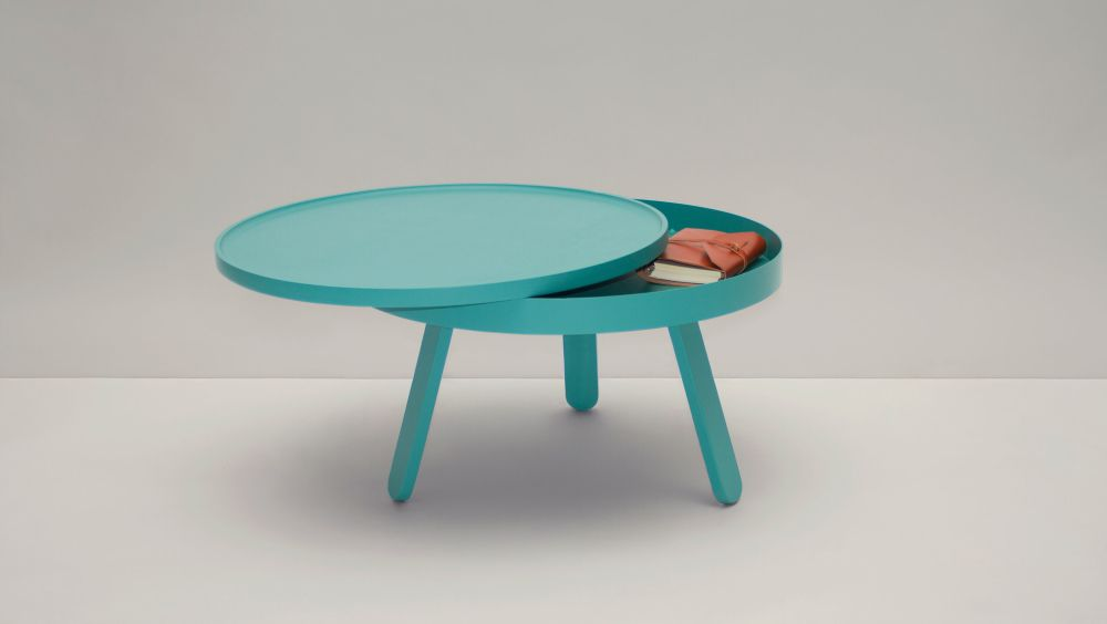 Batea M - Coffee table with storage by WOODENDOT