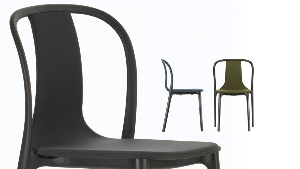 Belleville Chair with Fabric Upholstery by Vitra