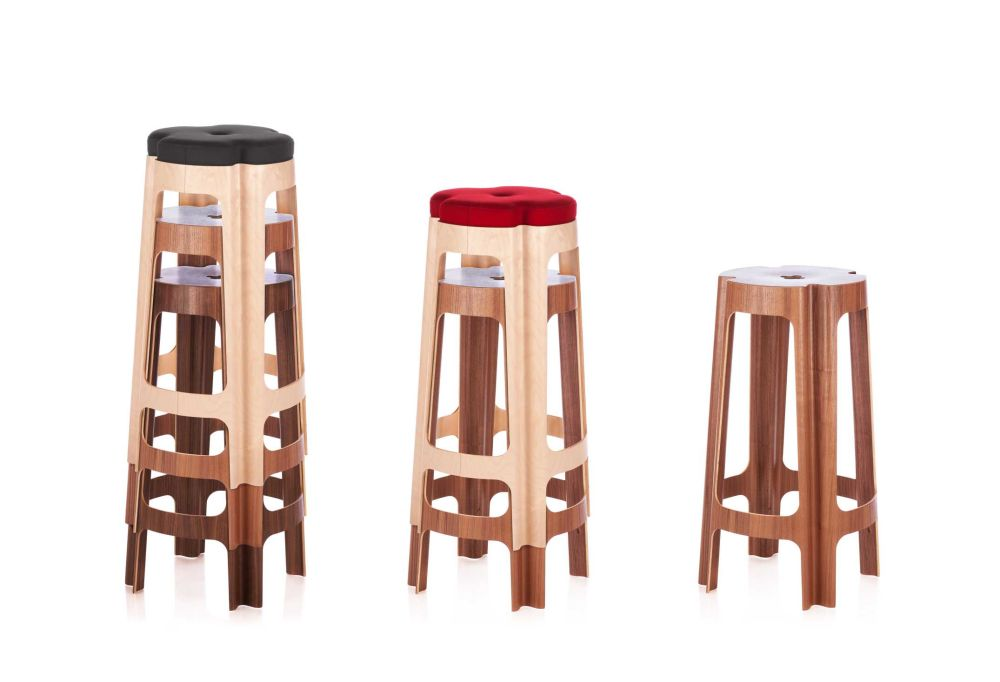 Bloom Upholstered Bar Stool  by RIGA CHAIR