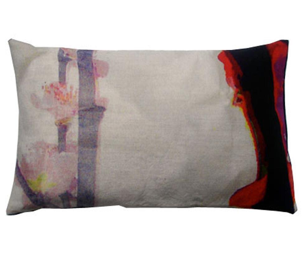 Bright Branch Rectangular Cushion by Suzanne Goodwin