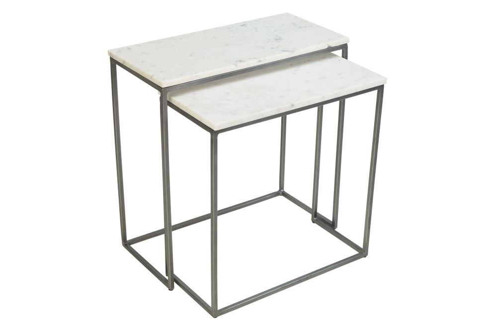 Chelsea Nest of Two Rectangle Side Tables by Content by Terence Conran