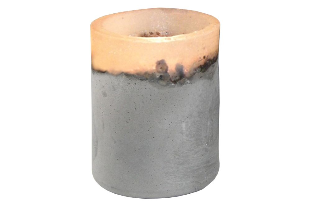 Concrete Candle Holder by Renate Vos
