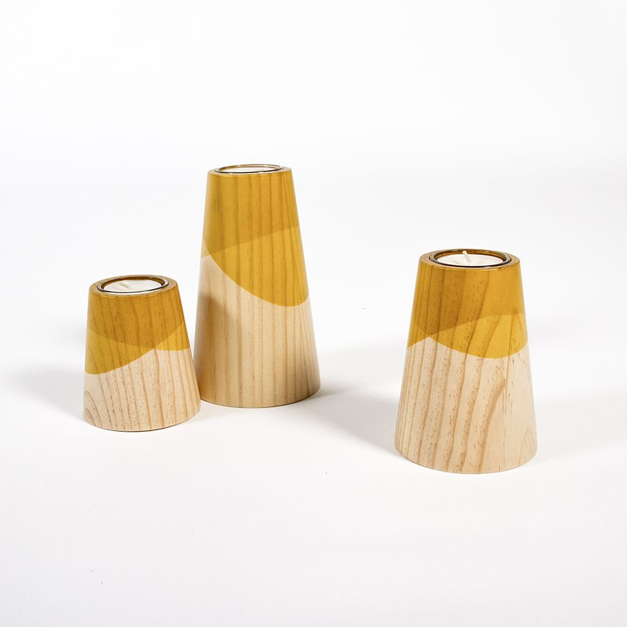 Etna Mini Candle Holders by WOODENDOT