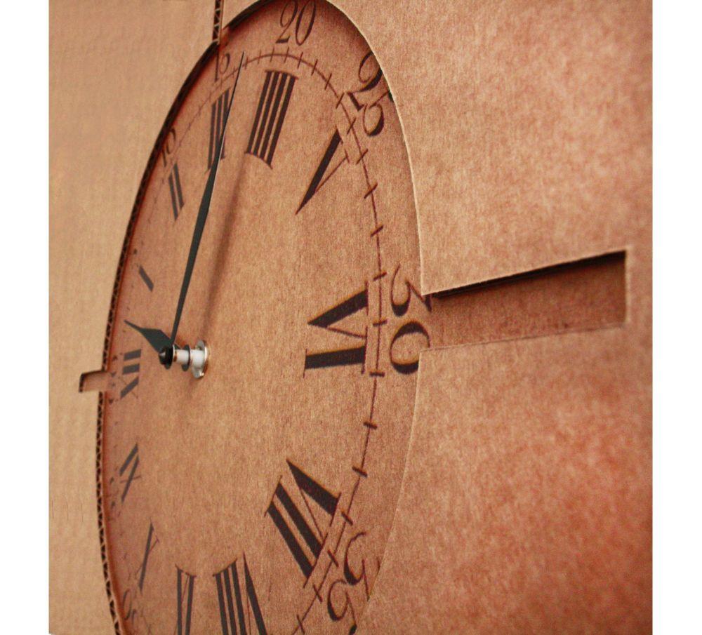 Good Morning, Mr. Foucault! Clock by Karton Art Design