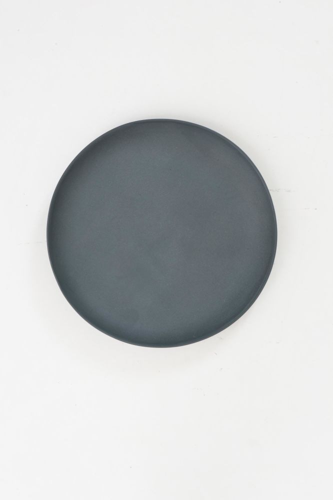 Grey Plate by Golden Biscotti