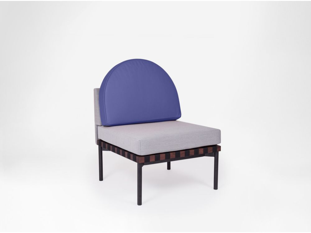 Grid - Armchair With Round Cushion without Armrest by Petite Friture