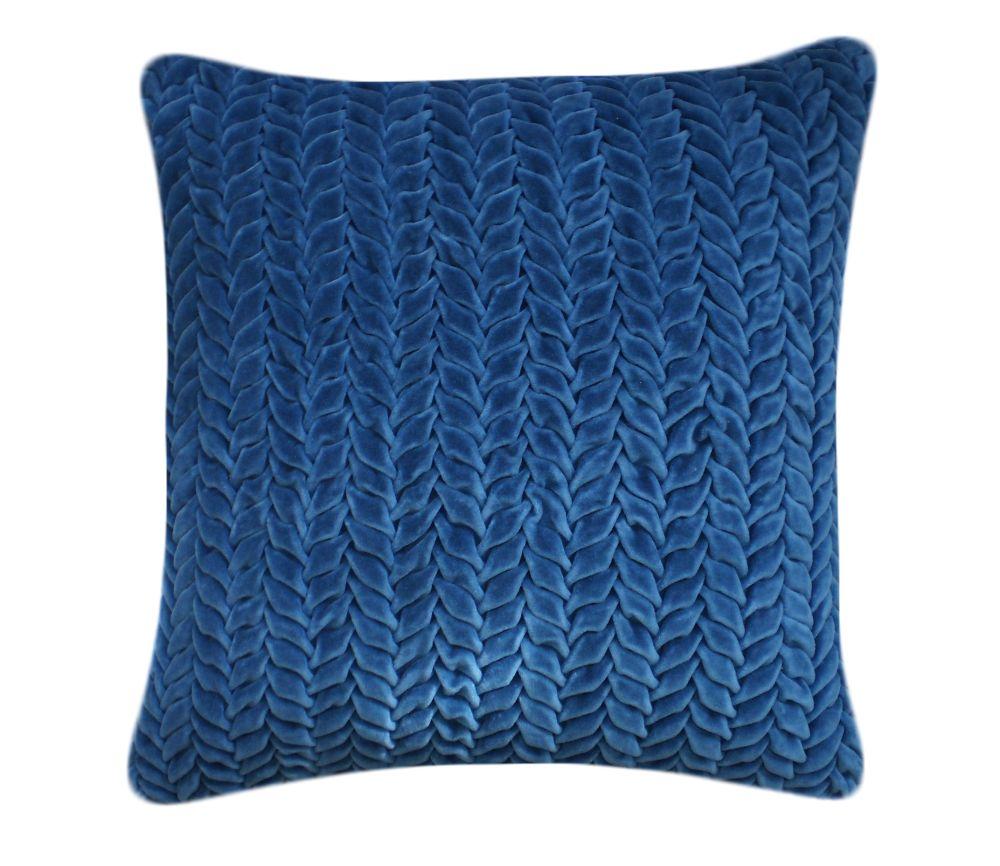 Hand Stitched Leaf Cushion by Nitin Goyal London