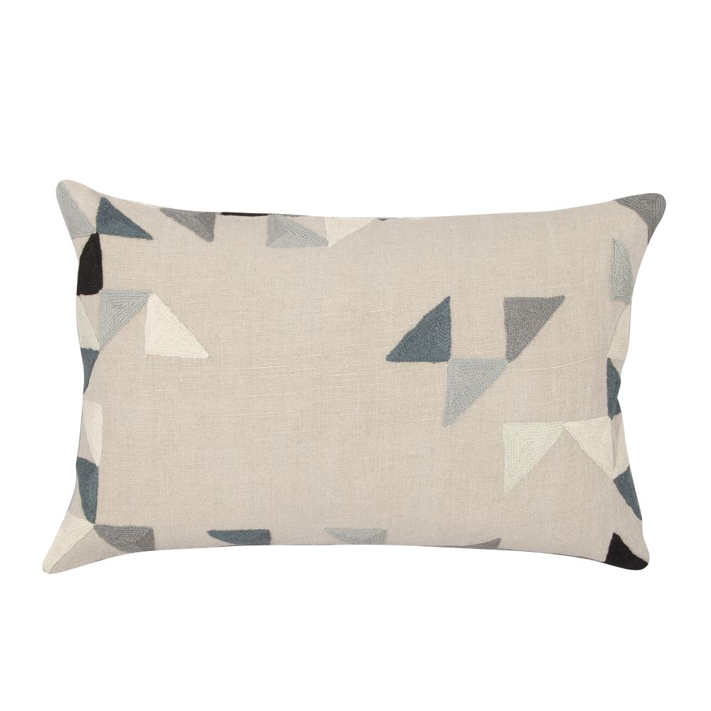 Harlequin Rectangular Linen Cushion by Niki Jones