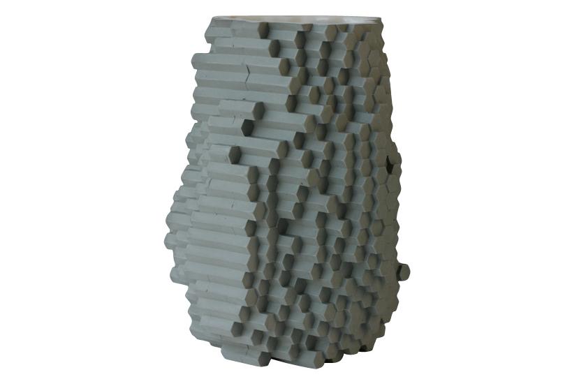 Hexagonal Pixel Vase by Julian F Bond