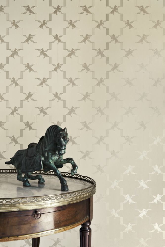 Horse Trellis Wallpaper by Barneby Gates