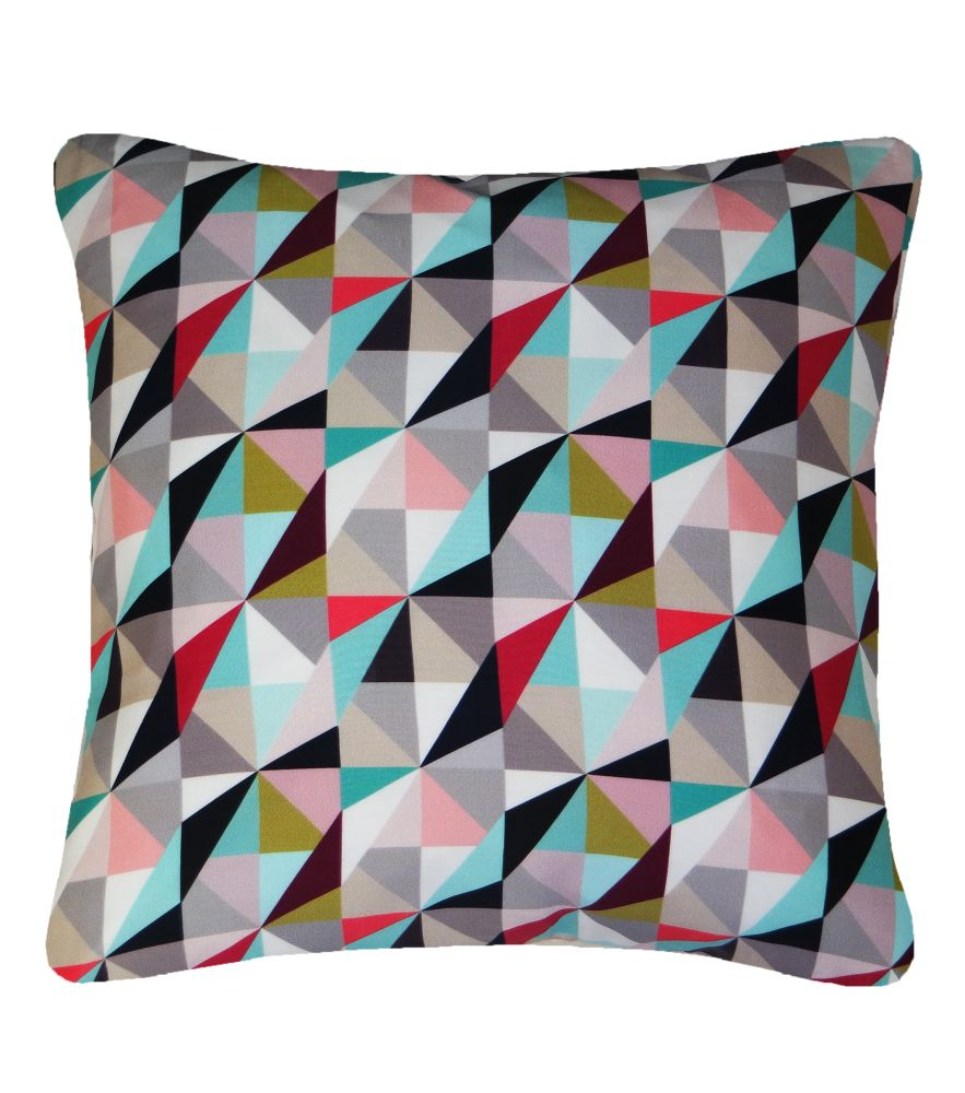 Kite Printed Square Cushion  by Nitin Goyal London