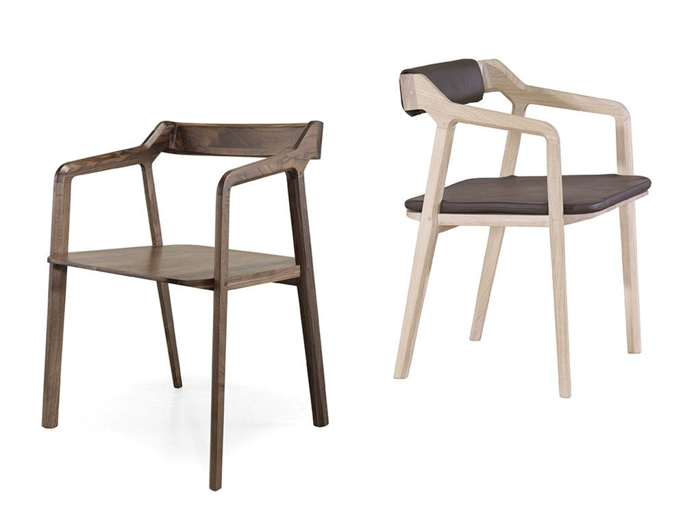 Kundera Armchair with back and seat pad by Wewood