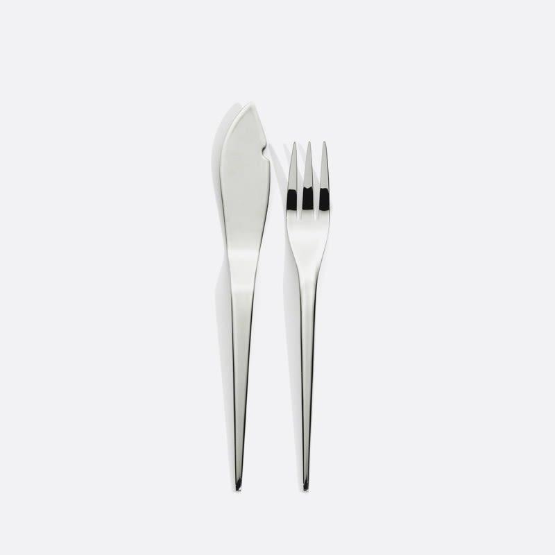 Kyoto Fish Flatware set for 6 by Serafino Zani