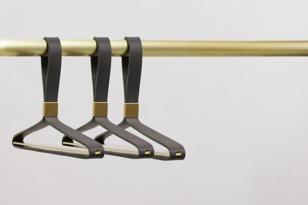 Leather Coat Hanger by Space for Design
