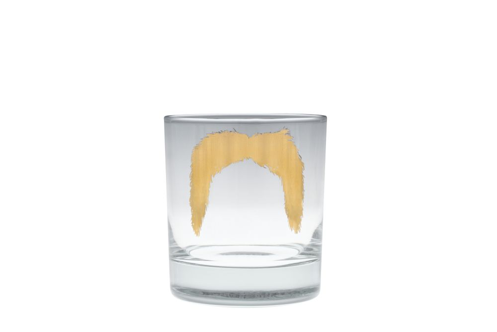 Magnum Gold Moustache Tumbler by Peter Ibruegger Studio