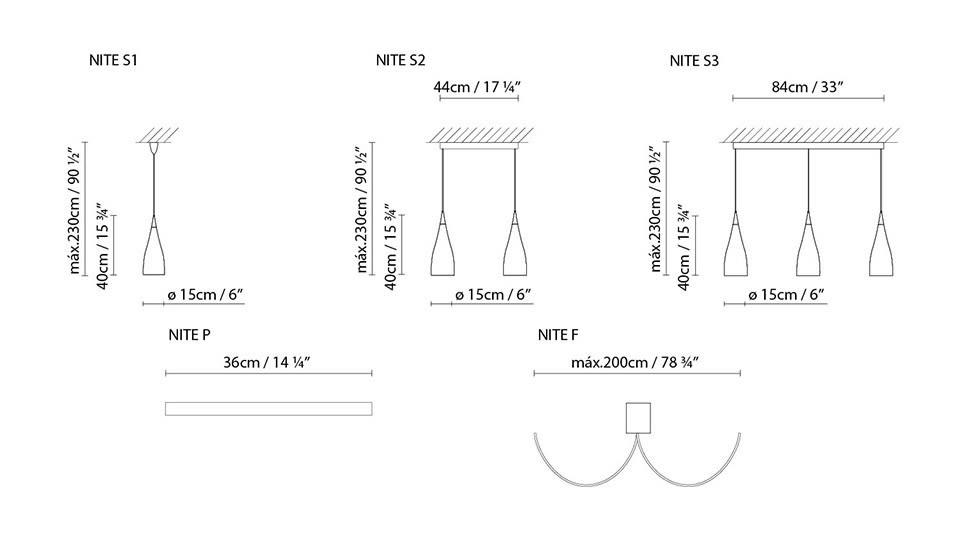 Nite S3 Pendant Light by B.LUX
