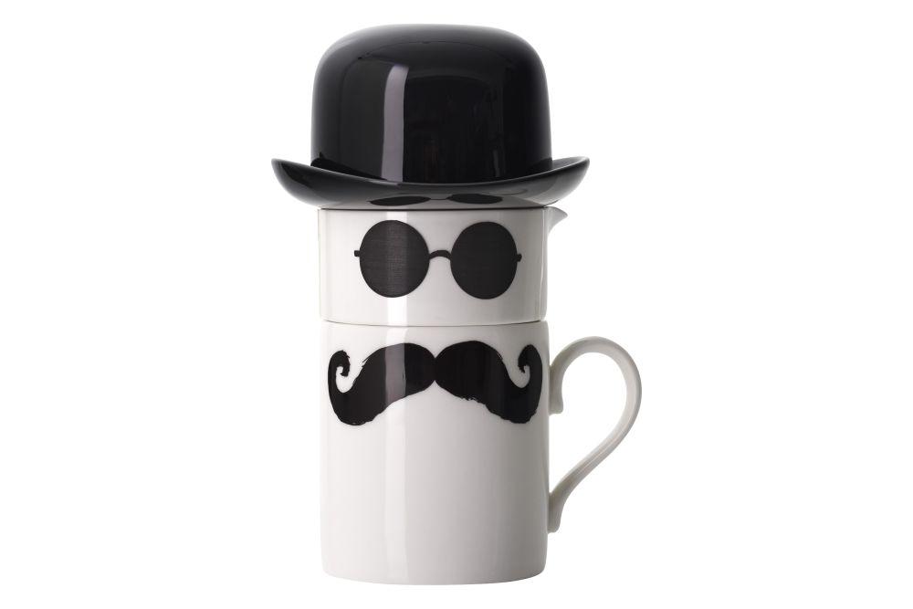 Original Moustache Mug Set by Peter Ibruegger Studio