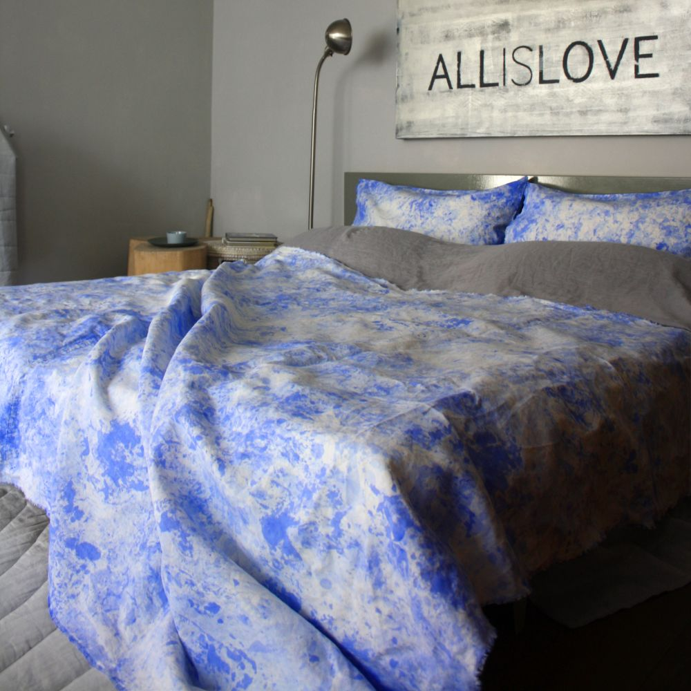 Painted Throw – Ultramarine by Vividgrey