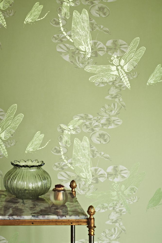 Pewter Dragonfly Wallpaper  by Barneby Gates