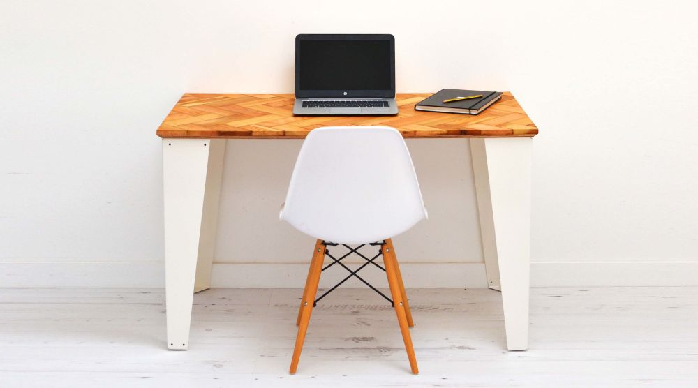 Reclaimed Parquet Desk by Jam Furniture