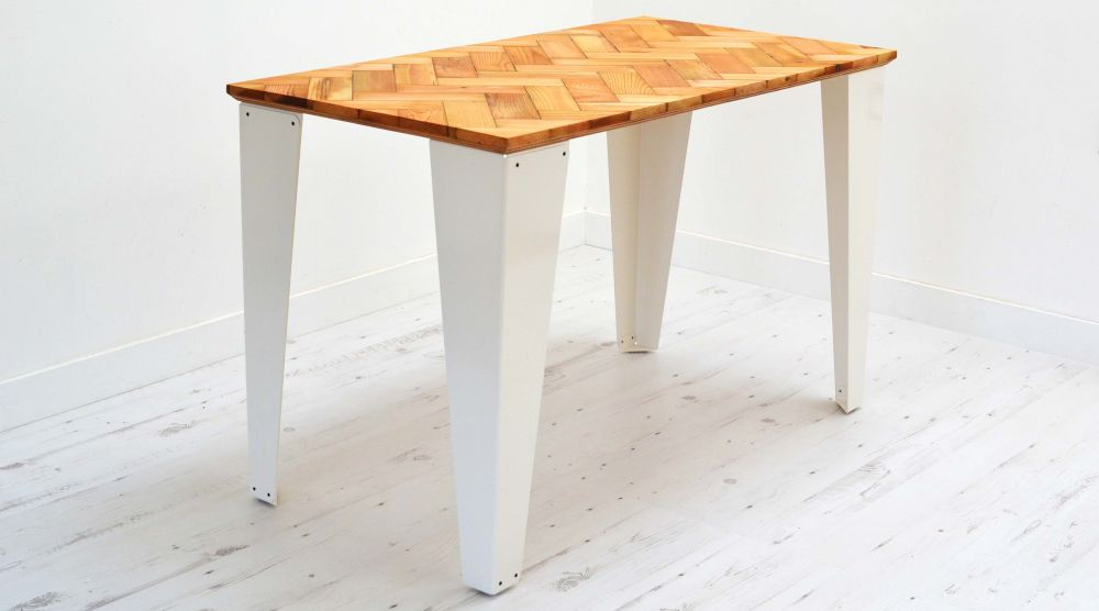 Reclaimed Parquet Desk by Jam Furniture