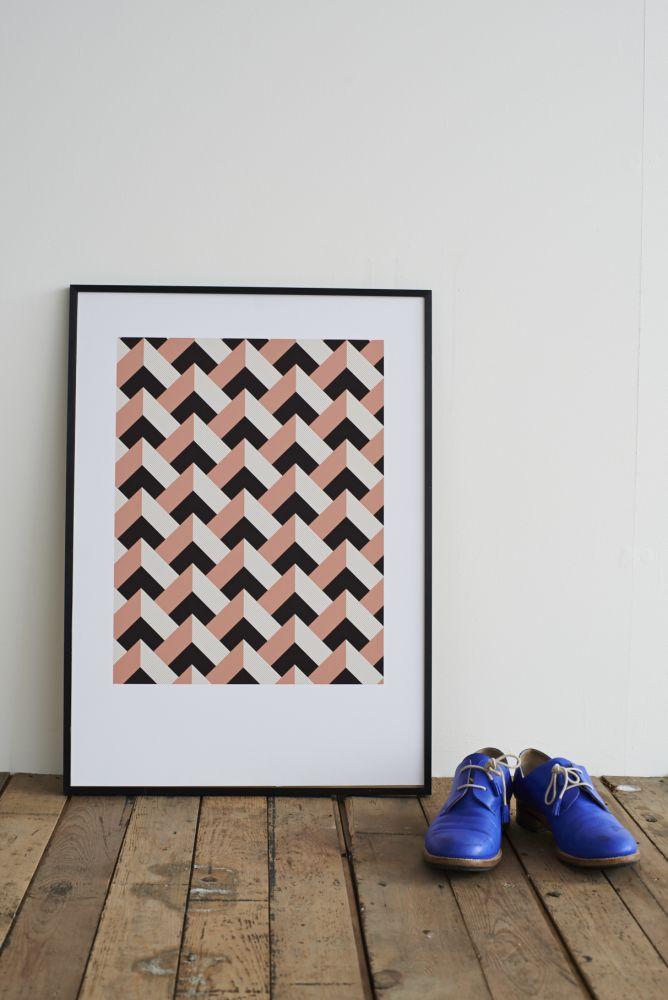 Rose Peaks Screen Print by Lane