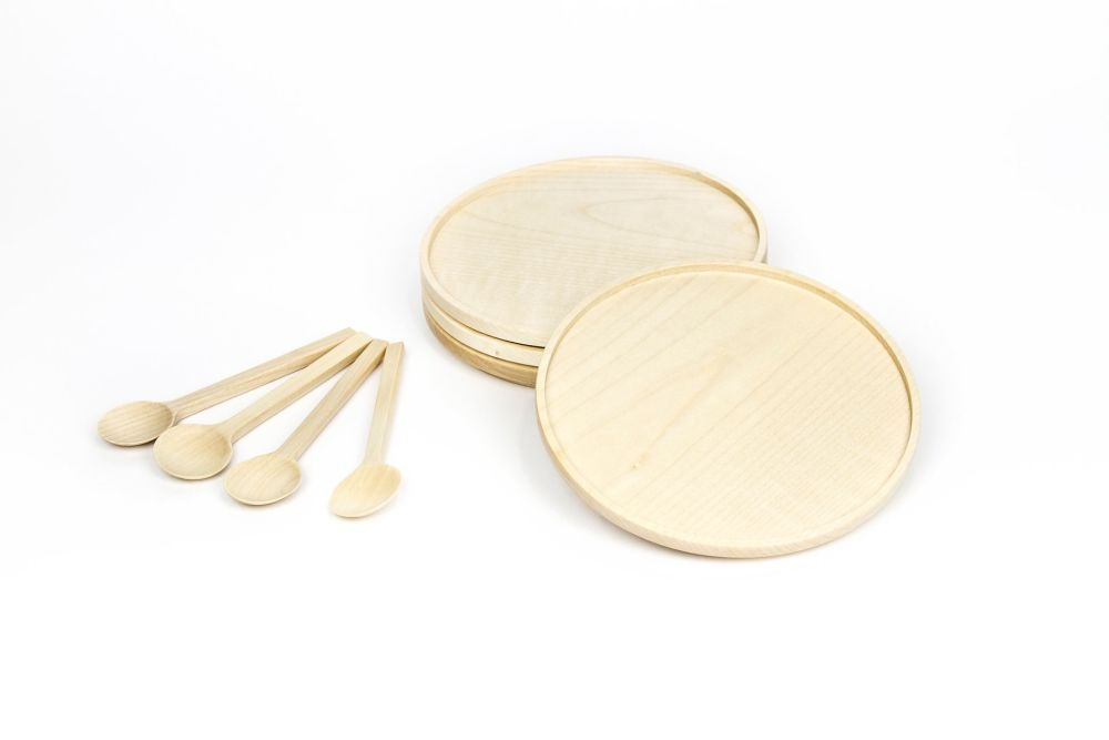Silt Plates and Spoons Set by Viewport Studio