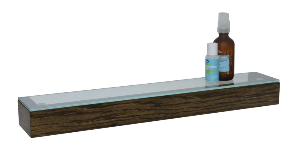 Slimline Shelf with Glass Top by Wireworks