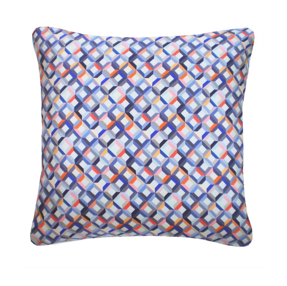 Small Chevron Printed Square Cushion  by Nitin Goyal London