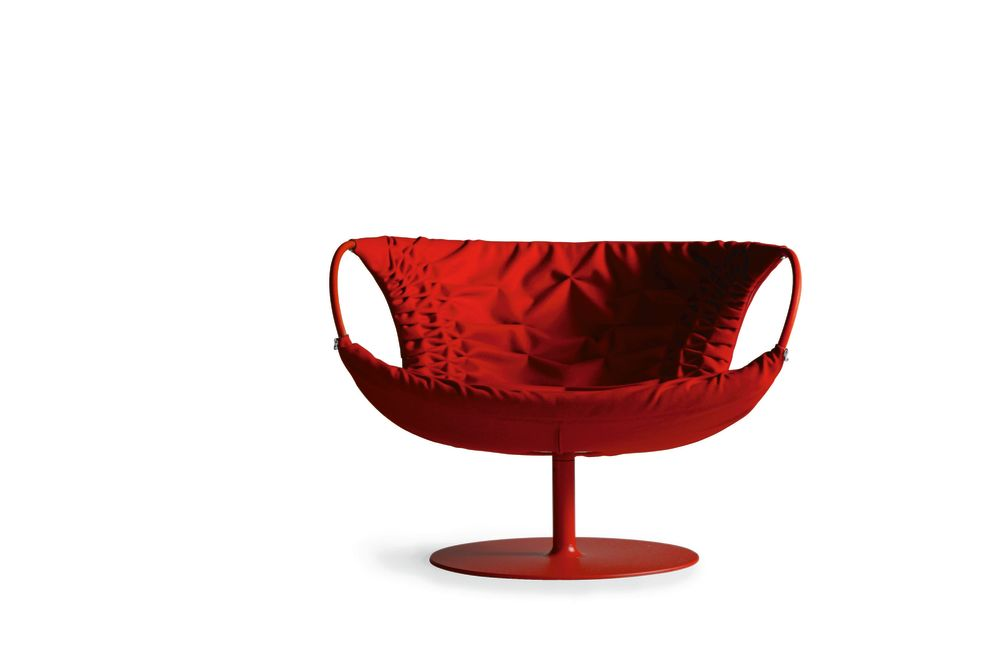 Smock Swivel Armchair by Moroso