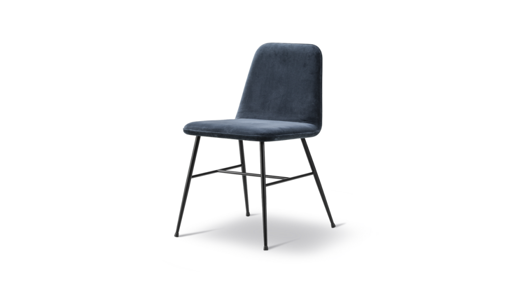 Spine Metal Base Dining Chair- fully upholstered by Fredericia