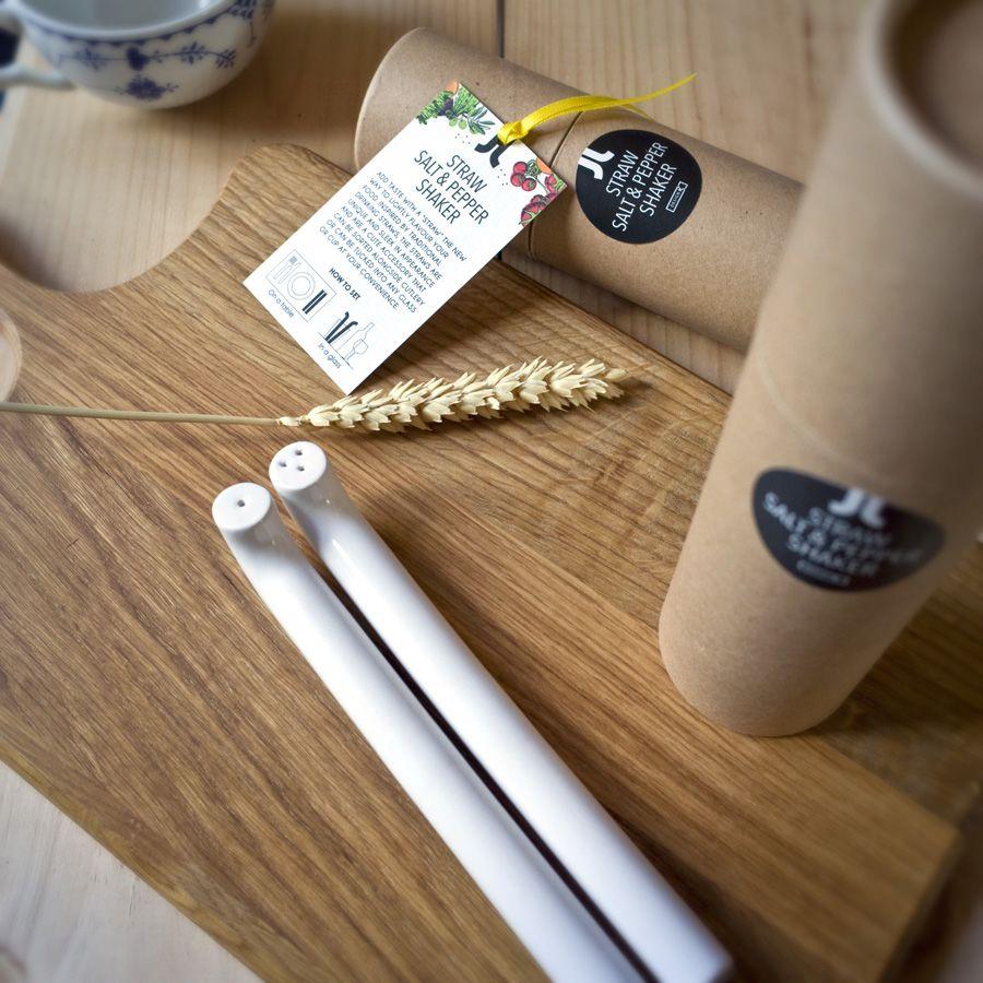 Straw Salt & Pepper Shaker by DesignK