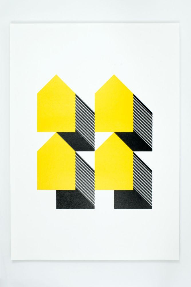 Houses - Yellow & Black by Lane