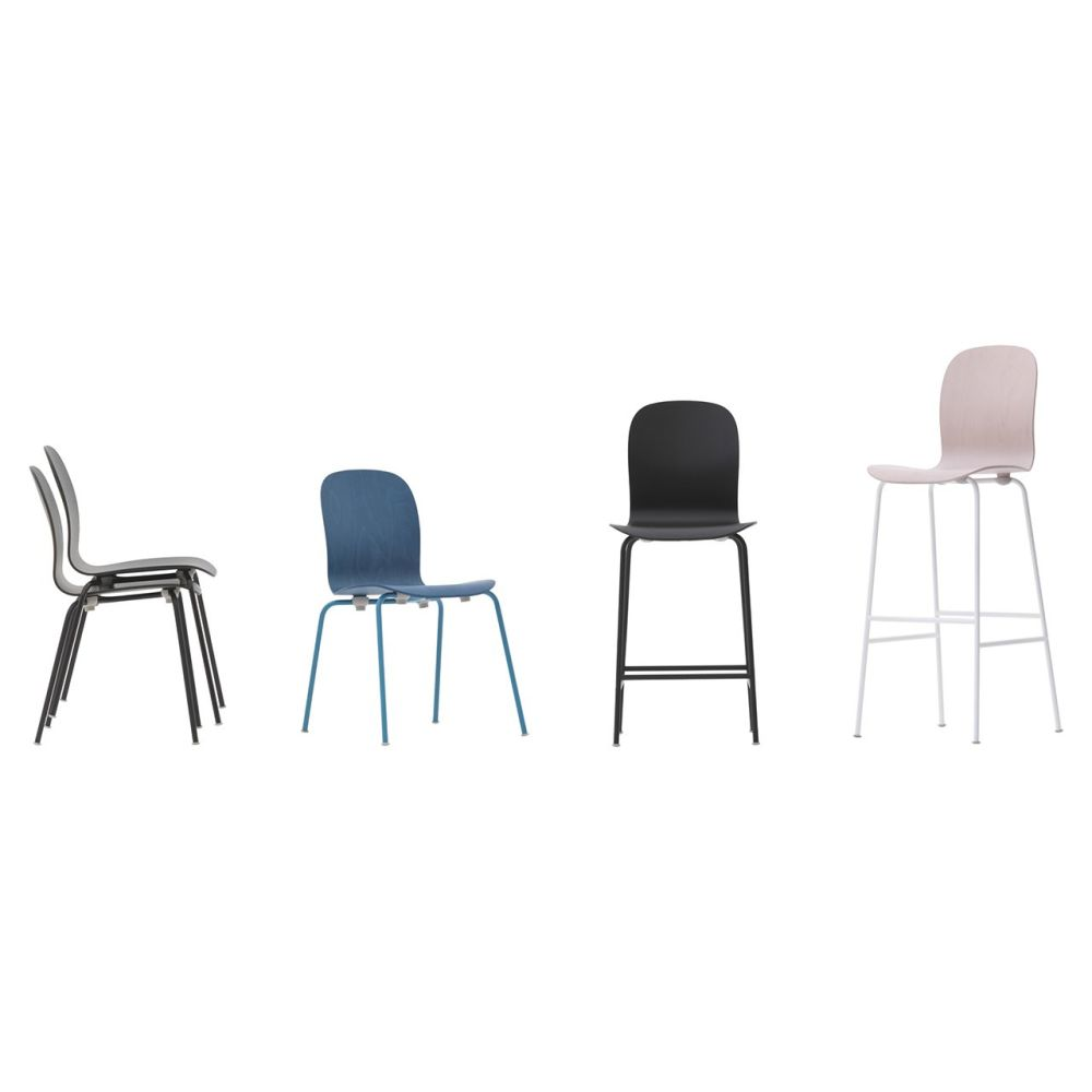 Tate Colour Stool With High Backrest by Cappellini