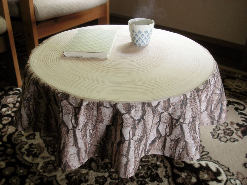 Treestamp Tablecloth by Masako Sato