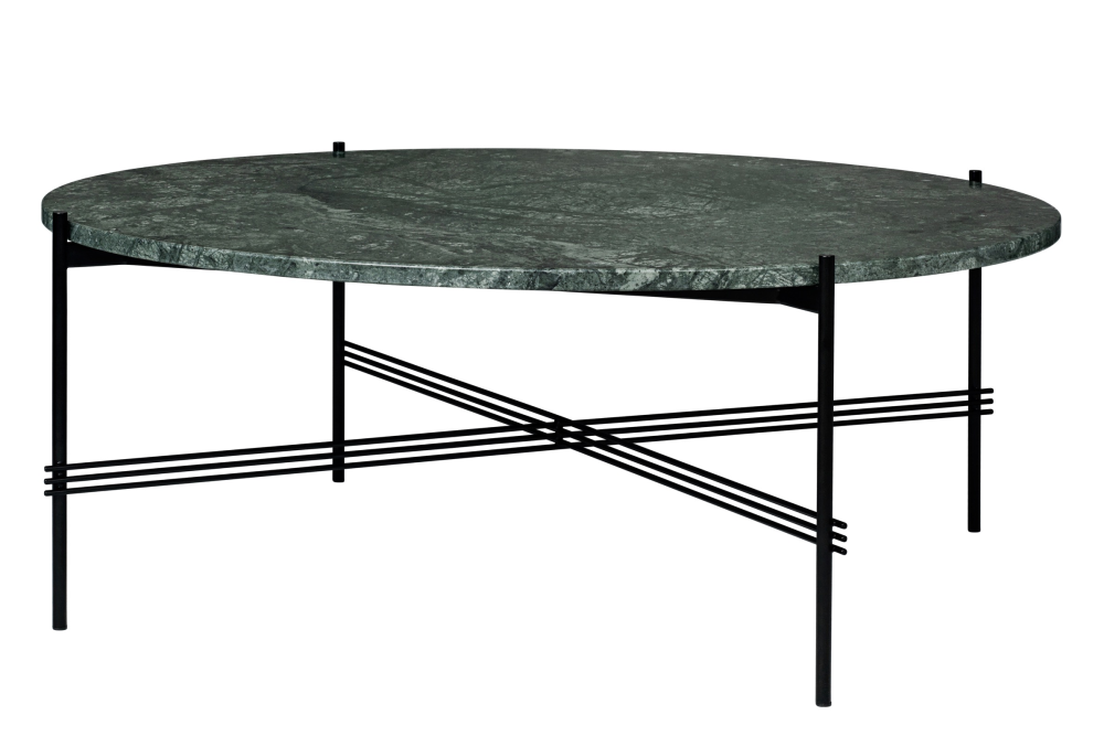 Ts Round Coffee Table With Marble Top Gubi Marble Nero