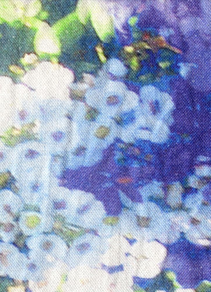Washed Lily & Violet Rectangular Cushion by Suzanne Goodwin