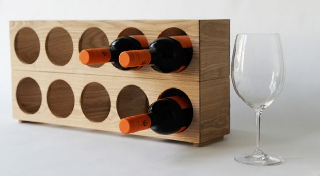 Wine-o Bottle Rack by Wireworks