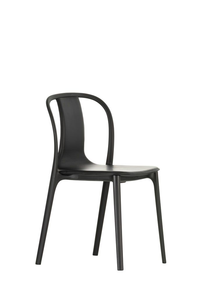 Belleville Chair with Leather Upholstery by Vitra