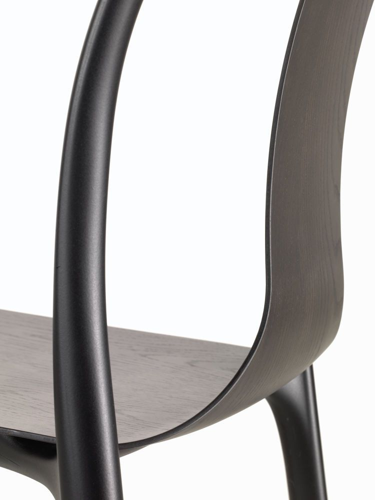 Belleville Chair with Wood Shell by Vitra
