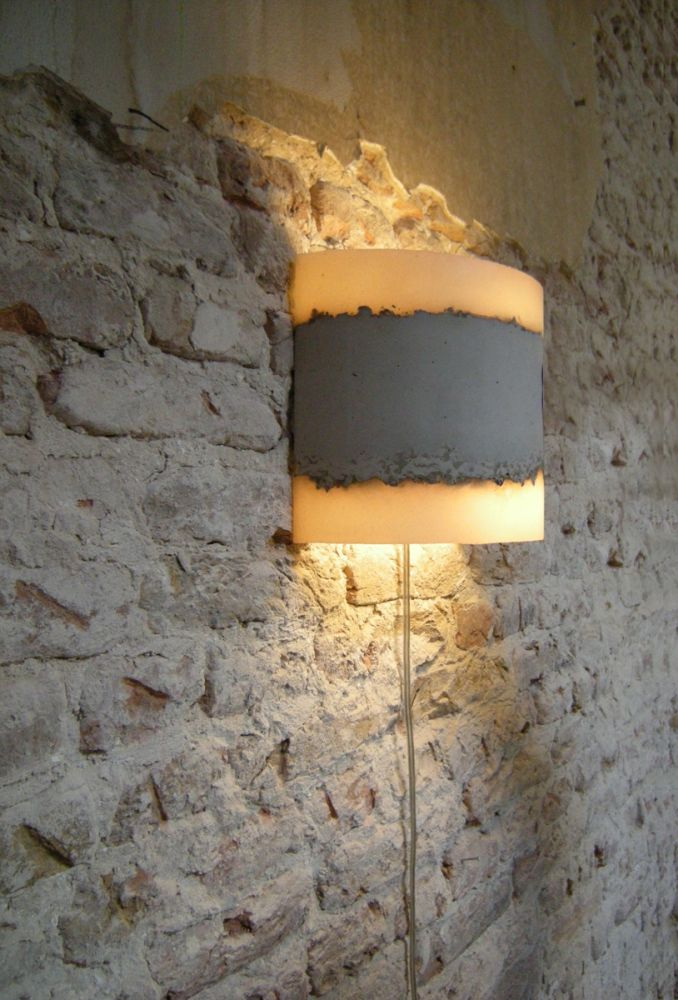CONCRETE wall lamp by Renate Vos