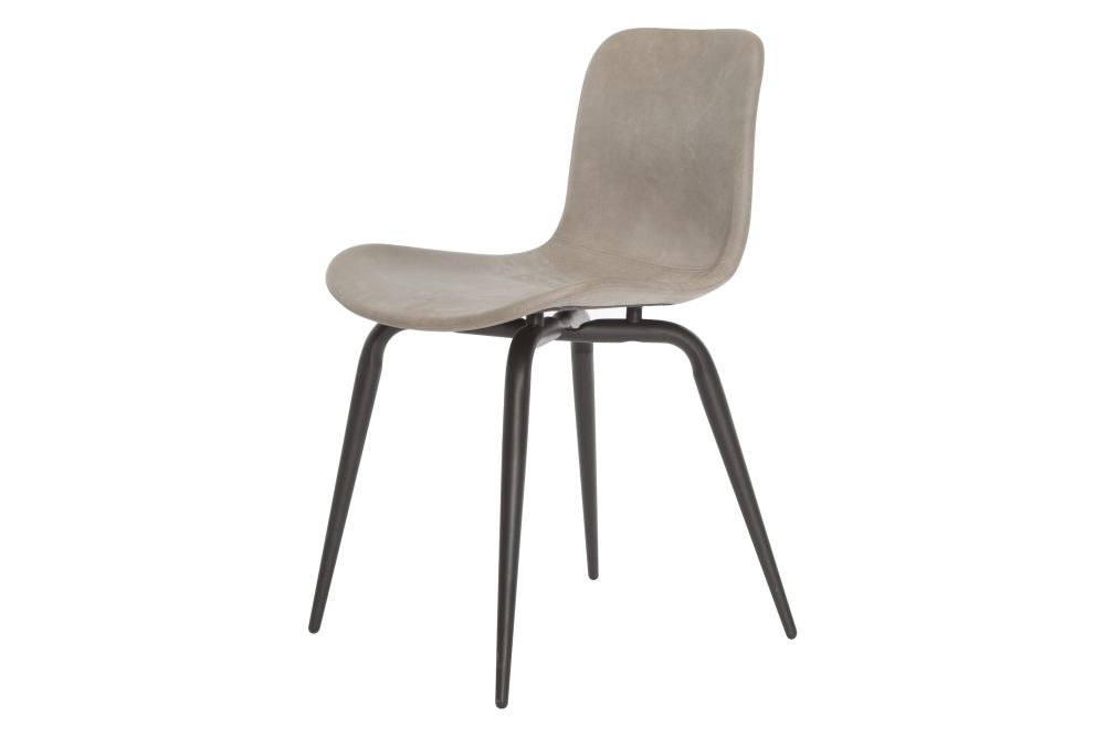 Langue Avantgarde Dining Chair, Black - Leather by NORR11